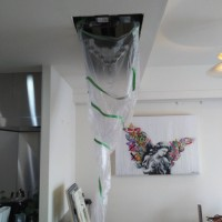 三菱製天井埋め込み式エアコン